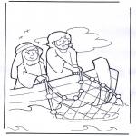Pinturas bibel - Jesus no barco