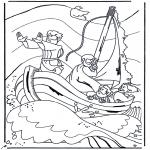 Pinturas bibel - Jesus no lago