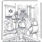 Pinturas bibel - Jesus no templo