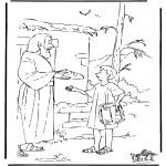 Pinturas bibel - José traz comida