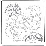 Inverno - Labirinto cervo