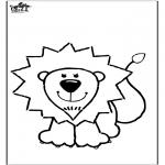 Animais - Leão para colorir