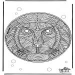 Pinturas Mandala - Leões mandala