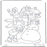 Inverno - Luta de bolas de neve