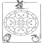 Pinturas Mandala - Macaco mandala 2