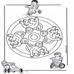 Pinturas Mandala - Macaco mandala