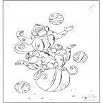 Animais - Macaco na bola