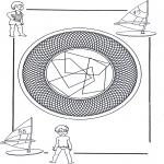 Pinturas Mandala - Mandala bambini 26