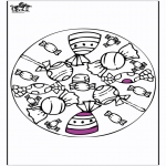 Pinturas Mandala - Mandala - chocolates e pirulitos
