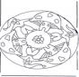 Mandala com cogumelo 2