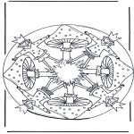 Pinturas Mandala - Mandala com cogumelo