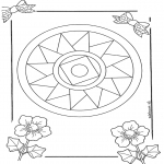 Pinturas Mandala - Mandala de recortar  10