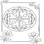 Pinturas Mandala - Mandala de recortar  14