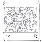 Pinturas Mandala - Mandala de recortar  15