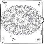 Pinturas Mandala - Mandala de recortar  19