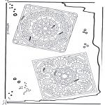 Pinturas Mandala - Mandala de recortar  20