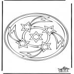 Pinturas Mandala - Mandala de recortar 34