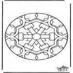 Pinturas Mandala - Mandala de recortar 35