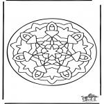Pinturas Mandala - Mandala de recortar 36