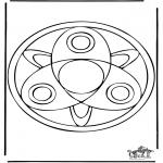 Pinturas Mandala - Mandala de recortar 37