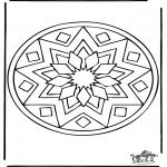 Pinturas Mandala - Mandala de recortar 39