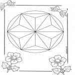 Pinturas Mandala - Mandala de recortar  6