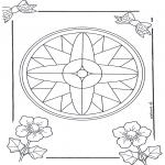 Pinturas Mandala - Mandala de recortar  7