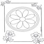 Pinturas Mandala - Mandala de recortar  8