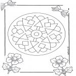 Pinturas Mandala - Mandala de recortar  9
