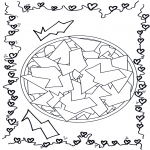 Pinturas Mandala - Mandala geométrico 2