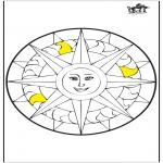 Pinturas Mandala - Mandala - Sol