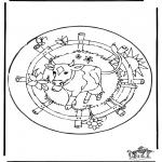 Pinturas Mandala - Mandala - Vaca