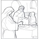 Pinturas bibel - Maria, Marta e Jesus