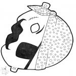 Cartões de picotar - Máscara de picotar 13