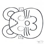 Cartões de picotar - Máscara de picotar 2