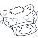 Cartões de picotar - Máscara de picotar 5