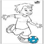 Todos os tipos de - Menino com futebol