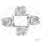 Pinturas Mandala - Menino Jesus mandala