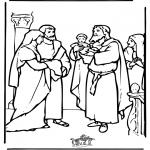 Pinturas bibel - Menino Jesus no Templo