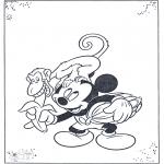 Personagens de banda desenhada - Mickey e macaco