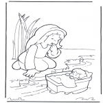 Pinturas bibel - Moisés e a sua mãe