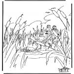 Pinturas bibel - Moisés no cesto