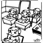 Crianças - Na sala de aulas 2