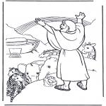 Pinturas bibel - Noé e o arco-íris
