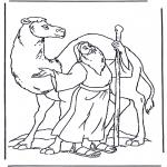 Pinturas bibel - Noé e um camelo