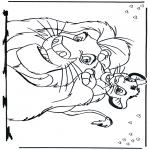 Personagens de banda desenhada - O Rei Leão 2