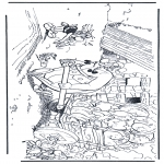 Personagens de banda desenhada - Obelix, Idefix en Asterix