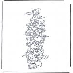 Personagens de banda desenhada - Os sete anões