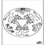 Pinturas Mandala - Outono mandala 1