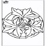 Pinturas Mandala - Outono mandala 2
